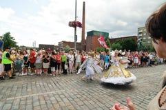 Kukkaisviikot- as celebrações das flores em Tampere Imagem de Stock Royalty Free