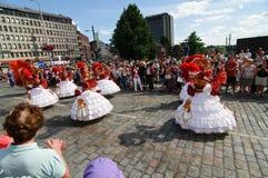 Kukkaisviikot- as celebrações das flores em Tampere Fotografia de Stock Royalty Free