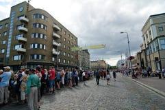 Kukkaisviikot- as celebrações das flores em Tampere Imagens de Stock