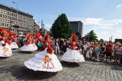 Kukkaisviikot- las celebraciones de las flores en Tampere Fotos de archivo