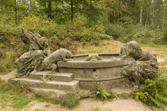 KUKS,CZECH REPUBLIC - SEPTEMBER 21.2015:,Matthias Braun's nativity,  September 21.2015  Kuks, Czech Republic Royalty Free Stock Images