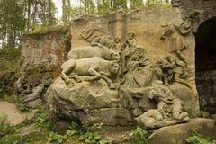 KUKS,CZECH REPUBLIC - SEPTEMBER 21.2015:,Matthias Braun's nativity,  September 21.2015  Kuks, Czech Republic Stock Photography