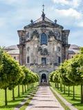 Kuks state hospital castle church entrance tree alley, Czech republic Stock Image