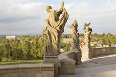 KUKS, TSJECHISCHE REPUBLIEK - 21 SEPTEMBER 2015: , Allegorie, M B Braun 1718-1720, 21 September 2015 Kuks, Tsjechische Republiek Royalty-vrije Stock Afbeelding