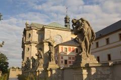 KUKS, TSJECHISCHE REPUBLIEK - 21 SEPTEMBER 2015: , Allegorie, M B Braun 1718-1720, 21 September 2015 Kuks, Tsjechische Republiek Stock Foto's