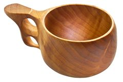 Kuksa - traditional finnish wooden cup Royalty Free Stock Images