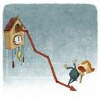 Kukułka zegaru przyrosta wykres Fotografia Royalty Free