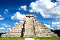 Kukulcan城堡在Chichén Itzà ¡,墨西哥的 库存图片