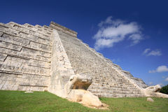 Kukulcan Mayan pyramid, Mexico Royalty Free Stock Images