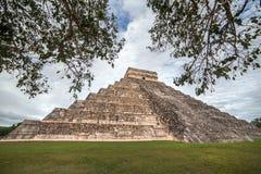 Kukulcan tempel på Chichen Itza, Yucatan, Mexico Arkivfoton