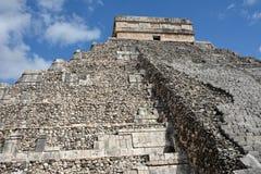 Kukulkan寺庙,金字塔在奇琴伊察,尤加坦,墨西哥 库存照片