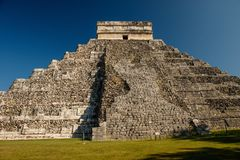 Kukulkan Mayan Pyramid in Chitzen Itza historic place, Mexico. Kukulkan Mayan Pyramid in Chitzen Itza historic place in Mexico, the most famous mayan ruin in stock photos