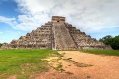 Kukulkan pyramid. Of Chichen Itza in Mexico Royalty Free Stock Photography