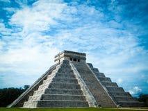 kukulkan pyramid Arkivbild