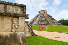 Kukulkan pyramid in Chichen Itza Royalty Free Stock Image