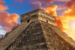 Kukulkan Pyramid, Chichen Itza Royalty Free Stock Photos