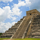 Kukulkan Pyramid at Chichen Itza. Kukulkan pyramid in Chichen Itza on the Yucatan Peninsula, Mexico. One of the modern wonders of the world Stock Photos