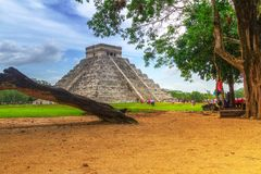 Kukulkan pyramid in Chichen Itza. Mexico Stock Images