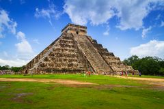 Kukulkan pyramid in Chichen Itza. Mexico Royalty Free Stock Photos