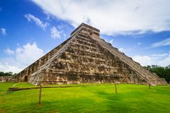 Kukulkan pyramid in Chichen Itza. Mexico Stock Photos