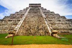 Kukulkan pyramid in Chichen Itza. Mexico Royalty Free Stock Image