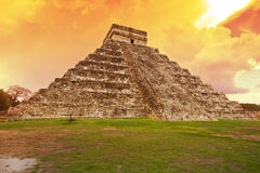 Kukulkan pyramid in Chichen Itza, Mexico stock images