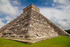 Kukulkan Pyramid, Chichen Itza, Mexico. Pyramid of Kukulkan, a Mesoamerican step-pyramid that dominates the center of the Chichen Itza archaeological site in the Royalty Free Stock Photos