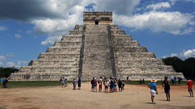 Kukulkan pyramid , Chichen Itza , Mexico Royalty Free Stock Photos