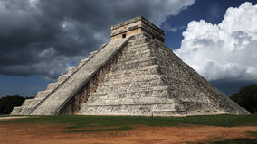 Kukulkan pyramid , Chichen Itza , Mexico. Kukulkan pyramid ( or el Castillo ) is most known structure in Chichen Itza archeological site and also member of new 7 Royalty Free Stock Photography