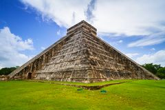 Kukulkan pyramid in Chichen Itza. Mexico Royalty Free Stock Images