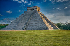 Kukulkan Pyramid at Chichen Itza, Mexico (sunset) Stock Photos