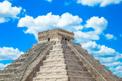 Kukulkan Pyramid in Chichen Itza Site, Royalty Free Stock Images