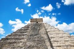 Kukulkan Pyramid in Chichen Itza Stock Images