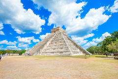 Kukulkan Pyramid in Chichen Itza Stock Photo