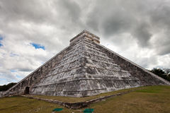 Kukulkan Pyramid in Chichen Itza on the Yucatan, Mexico Royalty Free Stock Photo