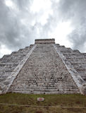 Kukulkan Pyramid in Chichen Itza on the Yucatan, Mexico Royalty Free Stock Photography