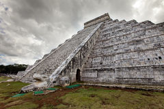 Kukulkan Pyramid in Chichen Itza on the Yucatan, Mexico Stock Images