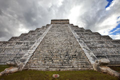 Kukulkan Pyramid in Chichen Itza on the Yucatan, Mexico Stock Image