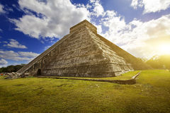Kukulkan Pyramid in Chichen Itza on the Yucatan, Mexico Royalty Free Stock Photos