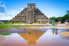 Kukulkan pyramid in Chichen Itza, Yucatan Royalty Free Stock Photography