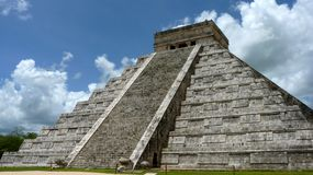 Kukulkan pyramid in Chichen Itza. On the Yucatan Peninsula, Mexico Royalty Free Stock Photo