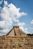 Kukulkan Pyramid (el Castillo) at Chichen Itza, Yucatan, Mexico. Black and white view of Kukulkan Pyramid (el Castillo) at the archaeological site of Chichen Stock Image