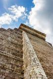 Kukulkan Pyramid (el Castillo) at Chichen Itza, Yucatan, Mexico. Detail of Kukulkan Pyramid (el Castillo) at the archaeological site of Chichen Itza, Yucatan Stock Images