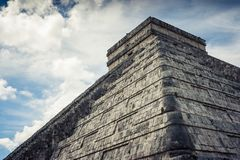 Kukulkan Pyramid (el Castillo) at Chichen Itza, Yucatan, Mexico. View of Kukulkan Pyramid (el Castillo) at the archaeological site of Chichen Itza, Yucatan Stock Photos