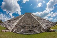 Kukulkan pyramid. Monument of Chichen Itza snake pyramid Mexico Yucatan Stock Photos