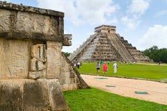 Kukulkan Pyramide in Chichen Itza Lizenzfreies Stockbild