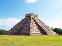 Kukulkan temple. Pyramid Kukulkan temple. Chichen Itza. Mexico Stock Photos
