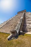 Kukulkan Temple at Chichen Itza. The temple of Kukulkan in Chichen Itza, the ancient Mayan archaeological site in the Yucatan Peninsula in Mexico stock images