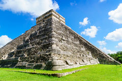 The Kukulkan Temple of Chichen Itza, mayan pyramid in Yucatan, Mexico No People , El Castillo Royalty Free Stock Photography