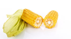 Kukurudza na cob nasion ścinku ścieżce Obraz Stock